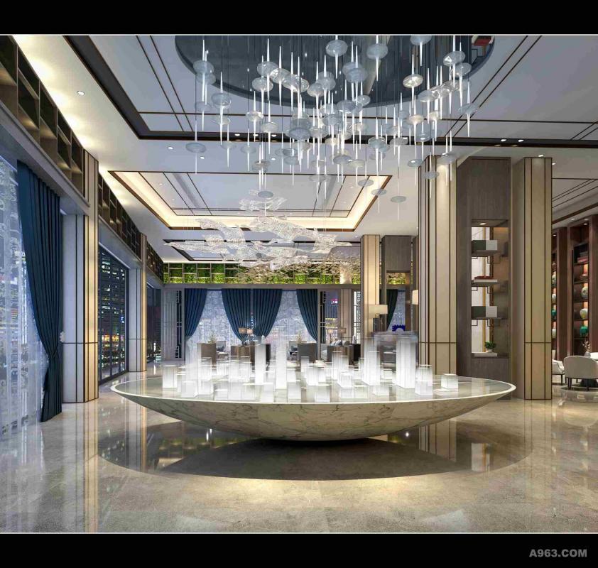 南昌深化部歇息区室内设计施工图外包售楼效劳景观设计的职业规划图片