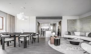 鸿艺源新作 | 515㎡ 大平层私宅设计,美学体验与生活温度无间交融!
