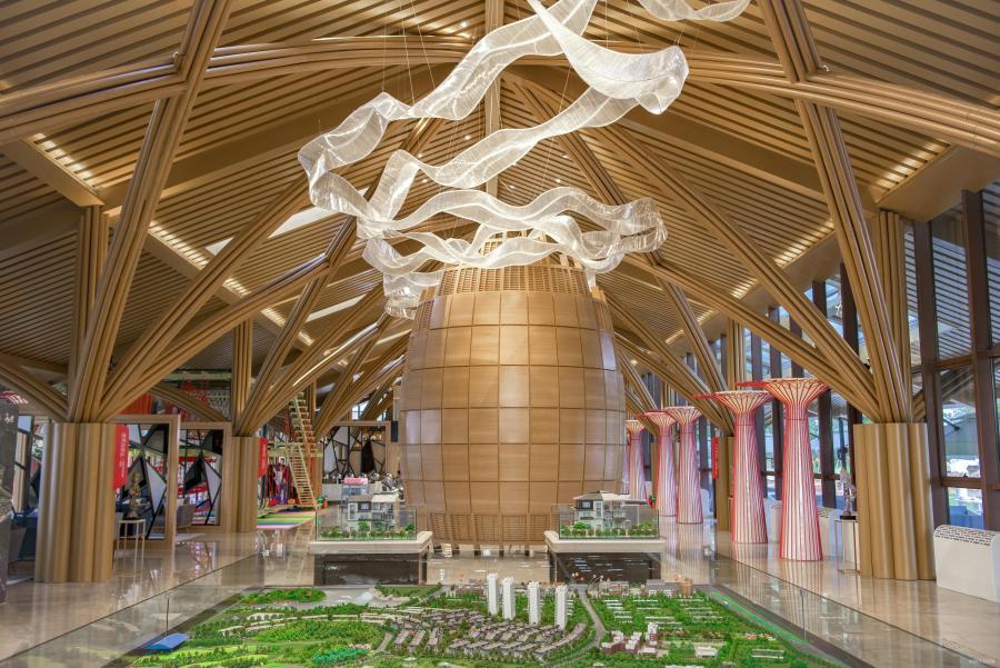 广西钦州海景规划展示中心内景