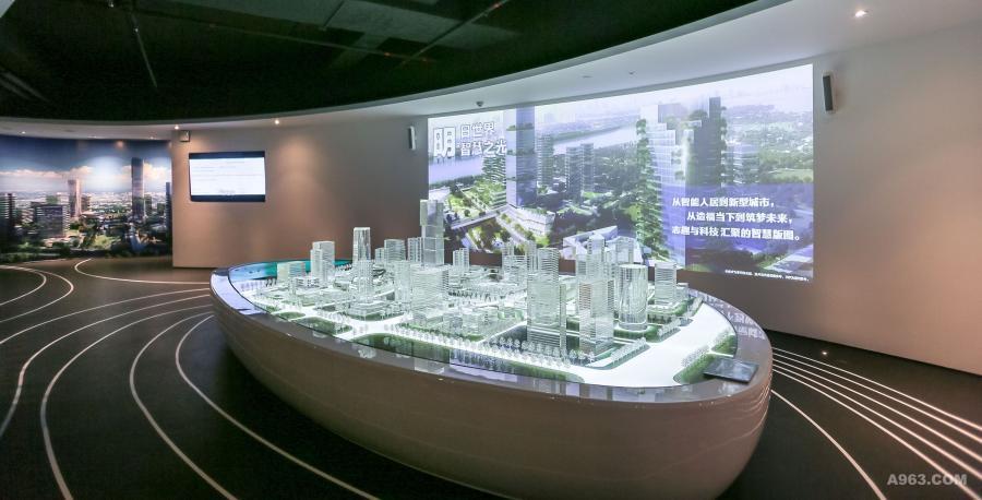 接待区(reception),展有未來生活市鎮之模型及映片,介紹 未來城市之建造及生活模式。