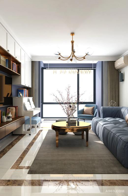 整面的落地窗使房间显得格外大气,开拓视野,更好的引入自然光。