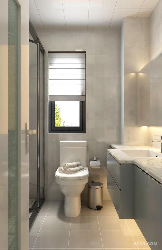 合理利用空间,在左边设计了淋浴和浴缸,洗浴更多选择,更加享受生活。
