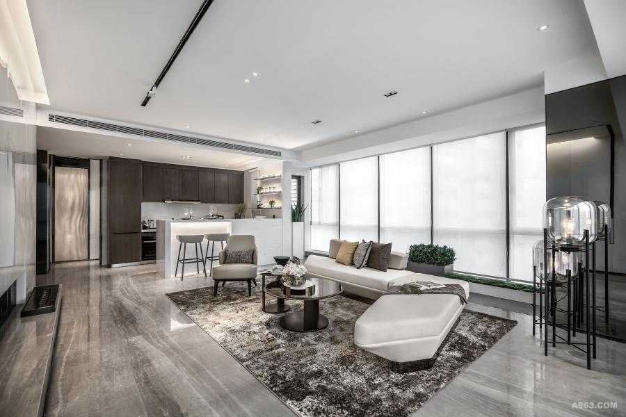 DHO国际设计样板房-客厅