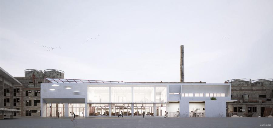 紫坭美术展厅建筑外观