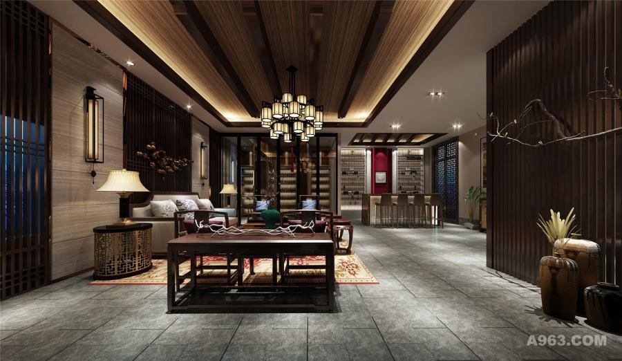 安徽2000平四合院别墅装修设计,上海腾龙别墅设计作品