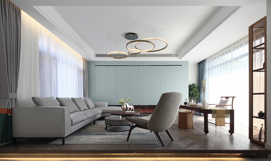 名义上的客厅,更是一个独立的影音室及茶室