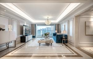恒裕滨城私宅设计:土气精装房的时髦轻奢风改造大变身!