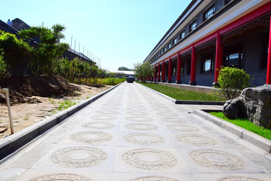 中式砖雕地面
