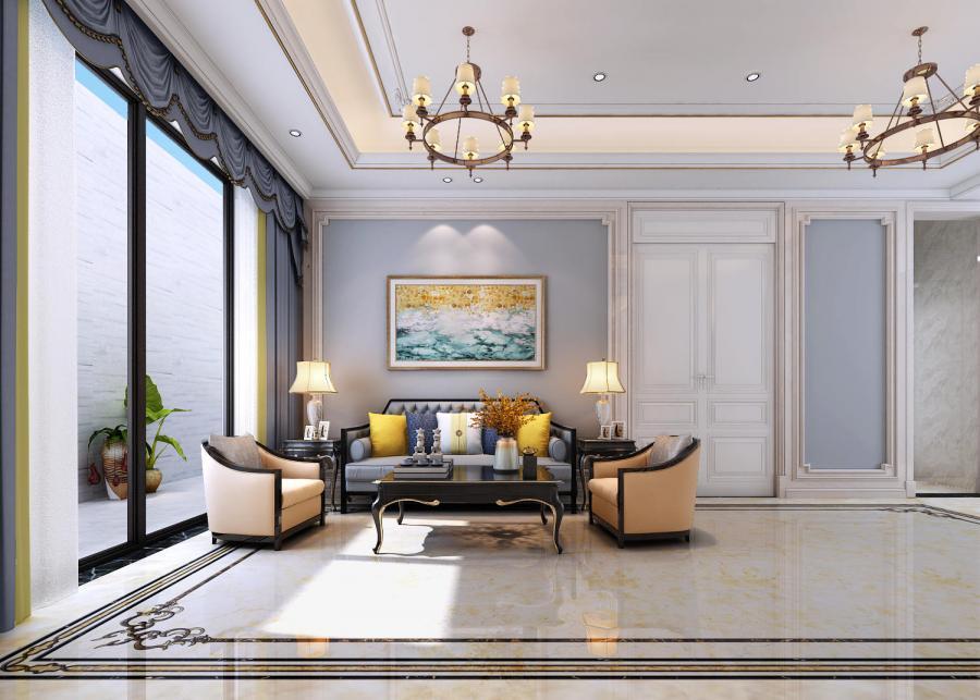 欧式的居室有的不只是豪华大气,更多的是惬意和浪漫。通过完美的典线,精益求精的细节处理,带给家人不尽的舒服触感,实际上和谐是欧式风格的最高境界。