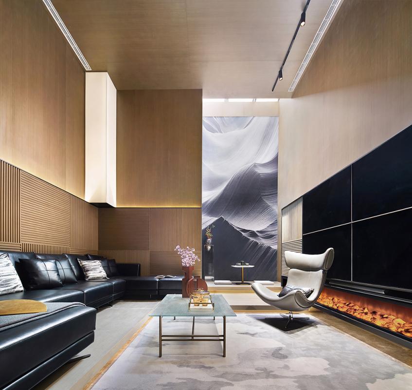 现代居住方式与审美正在经历着传统与新锐、保守与创意的交织,居住不再只是字面上的含义,而应包含着更多饱满的精神、内心的映像,赋以丰厚的意涵。因而,益居设计在这套别墅的设计中,以一种高于生活的态度,力图消除艺术与生活的界限,创造新尚生活视像。