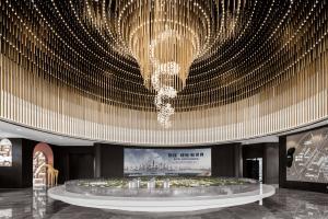 广西南宁悦桂绿地新世界销售中心室内设计