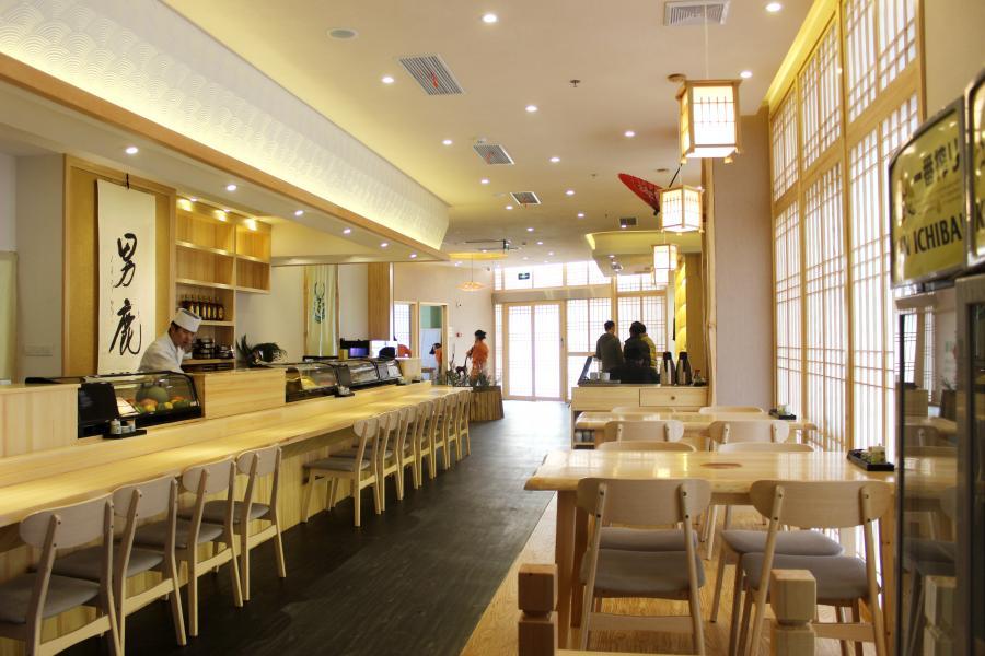 男鹿日式料理店吧台