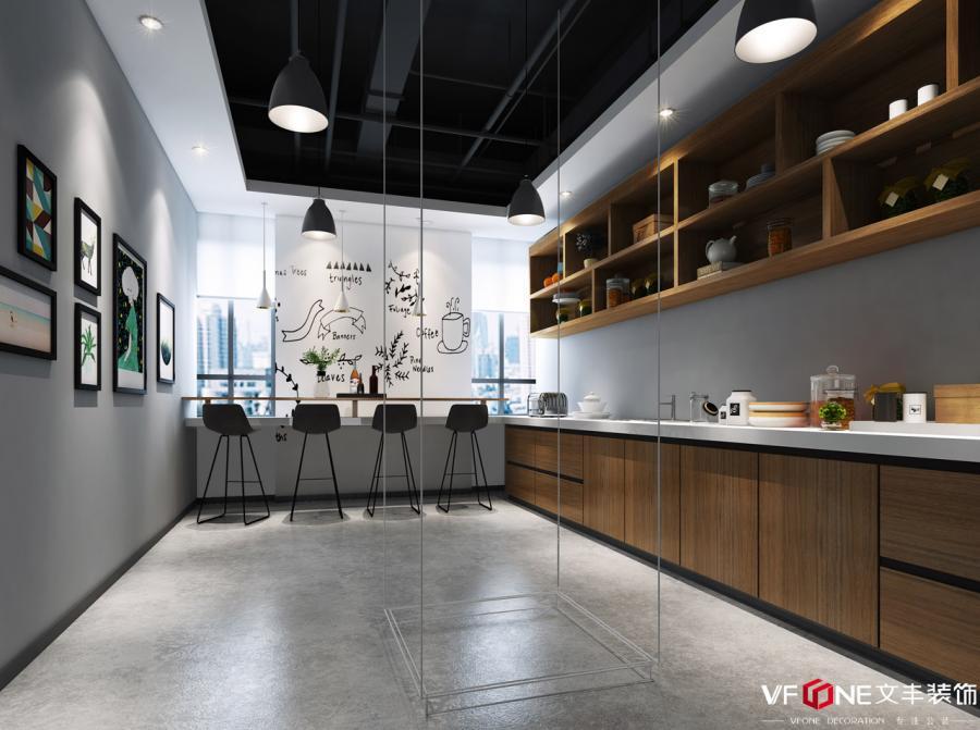 网红南山办公室装修设计——茶水间装修效果图