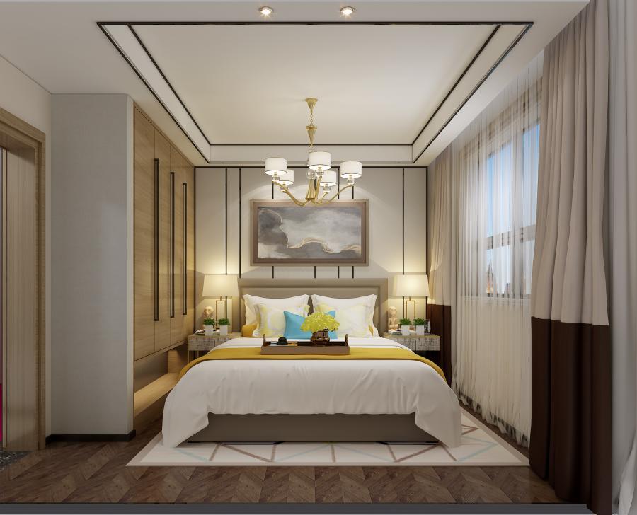 木质的地板和艺术雕塑既体现了自然质朴的风格,有渲染的不凡的格调