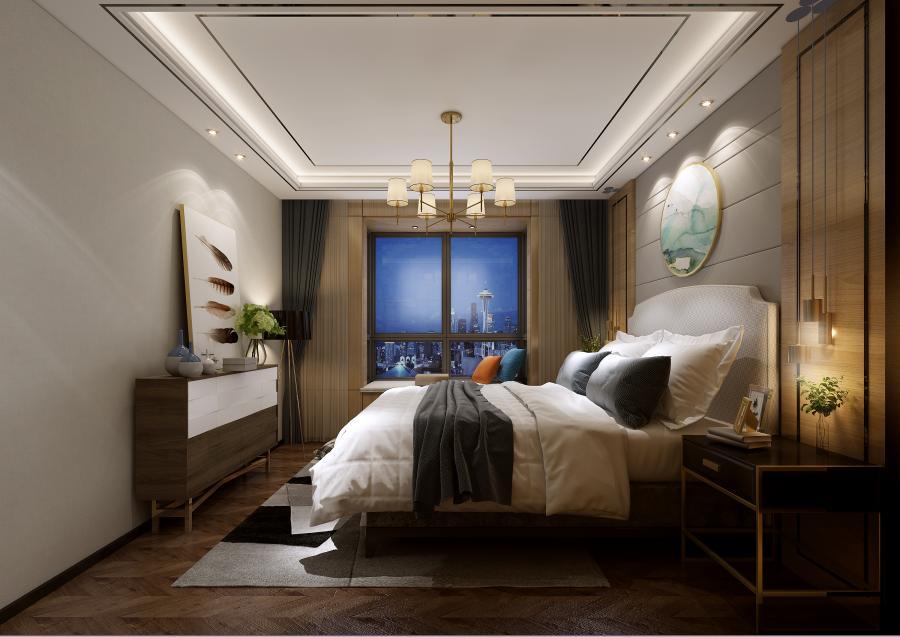 长辈房,根据空间功能性的不同,其色彩都有潜移默化的变化。