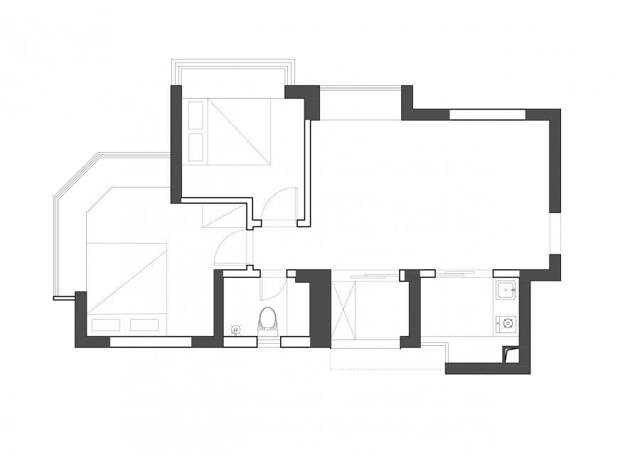 业主需求: 1、我们的是竖向厅,感觉有点后悔买竖向厅了,家具不好摆。 2、飘窗太多。 3、卫生间太小,格局不合理。 4、客厅摆放家具后空间太小,电视墙也很小气。 5、收纳功能目前基本没有。 6、喜欢温馨简洁的风格。
